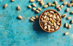 Pistachios in a bowl Royalty Free Stock Photo