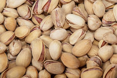 Roasted and salted pistachios Stock Photos