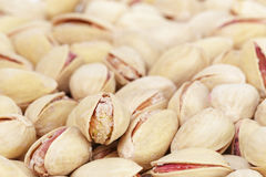 Roasted and salted pistachios Royalty Free Stock Images