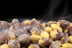 Roasted Salty Peanuts. A bunch of roasted salty peanuts Stock Images