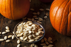 Roasted Salty Pumpkin Seeds Royalty Free Stock Photography