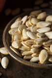 Roasted Salty Pumpkin Seeds Royalty Free Stock Image