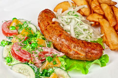 Roasted sausage Royalty Free Stock Images