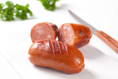 Roasted sausages Stock Image