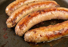 Roasted sausages Stock Photography