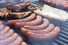 Roasted sausages Royalty Free Stock Photos