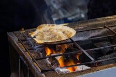 The roasted scallops seasoning with garnish japanese style.  royalty free stock photos