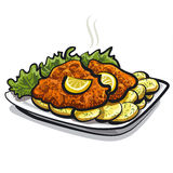 Roasted schnitzel Royalty Free Stock Photography