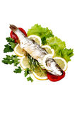 Roasted Sea Bass Royalty Free Stock Photos
