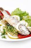 Roasted Sea Bass Royalty Free Stock Images