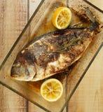 Roasted Sea Bream Fish Stock Image
