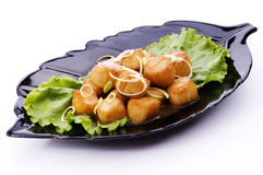 Roasted sea scallop Stock Photography