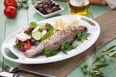 Roasted Seabass Stock Photography