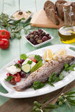 Roasted Seabass Royalty Free Stock Images