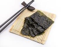 Roasted seaweed snack Stock Image