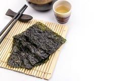 Roasted seaweed snack Stock Photos