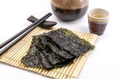 Roasted seaweed snack Stock Photo