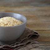 Roasted sesame seeds in a bowl Royalty Free Stock Image