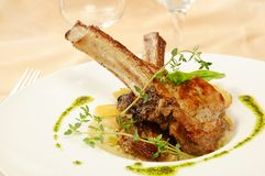Roasted sheep meat Royalty Free Stock Images