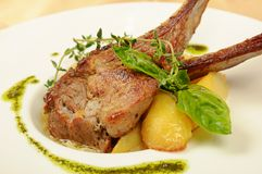 Roasted sheep meat Royalty Free Stock Photography