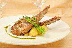 Roasted sheep meat Stock Image