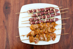 Roasted Shish Kebab Stock Images