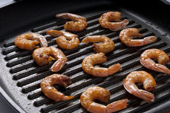Roasted shrimps Stock Image