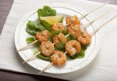 Roasted shrimps Royalty Free Stock Photos