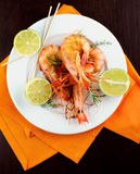 Roasted Shrimps Stock Images