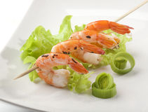 Roasted shrimps Royalty Free Stock Photography