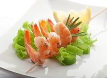 Roasted shrimps Royalty Free Stock Image