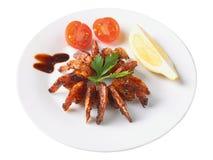 Roasted shrimps teriyaki Stock Photography