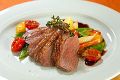 Roasted sliced duck. Stock Images