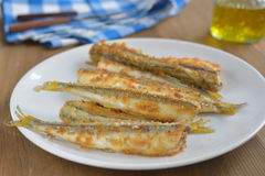 Roasted smelts Royalty Free Stock Images