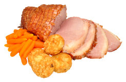 Roasted Smoked Gammon Joint Meal Stock Image
