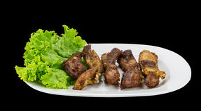 Roasted soft ribs with gaerlic Stock Image