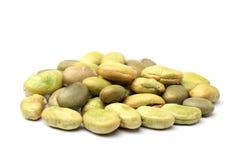 Roasted soya beans with wasabi sauce Stock Photos