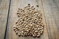 Roasted soybeans on wooden background Stock Image