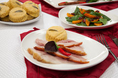 Roasted Spiced Ham Appetizer Stock Images