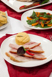 Roasted Spiced Ham Appetizer Stock Photos
