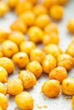 Roasted spicy and crunchy chickpeas Stock Photo
