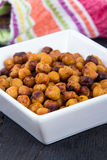 Roasted spicy Seasoned Chick Peas snack Royalty Free Stock Images