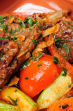 Roasted and stewed lamb carre Royalty Free Stock Photos