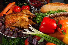 Roasted stuffed holiday turkey Royalty Free Stock Image