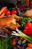 Roasted stuffed holiday turkey Stock Photo