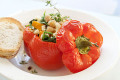 Roasted Stuffed Pepper Royalty Free Stock Photography