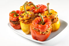 Roasted stuffed peppers Royalty Free Stock Photos