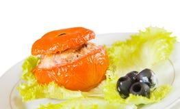 Roasted stuffed tomato Royalty Free Stock Images