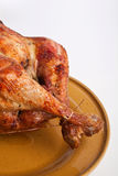Roasted Stuffed Turkey in a Dish Royalty Free Stock Image