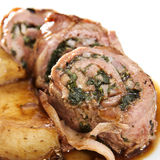 Roasted Stuffed Veal Royalty Free Stock Photography